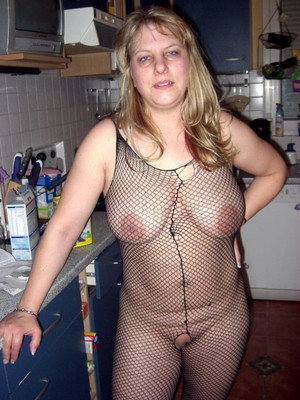 Big tits amateur wives in sexy fishnet..