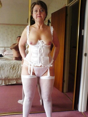 Watch my mature wife just in new white..
