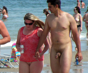 Male and female nudists from european..