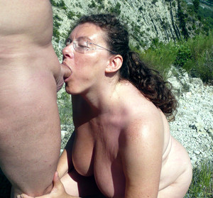 Amateur mature couples during outdoor..