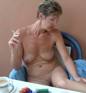Sexy old women naked and horny
