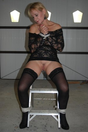 Stocking clad swinging milf from..