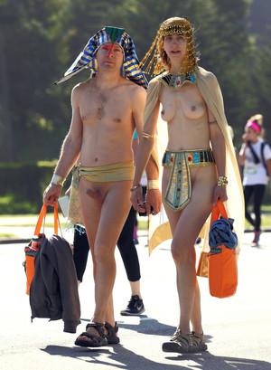 Mature couples nudists in public..