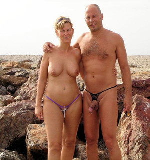 Hot swinger sex on the nudist beach,..