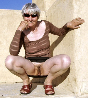 Granny nudist in public