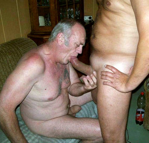 Old gay men sucking fat cock of his..